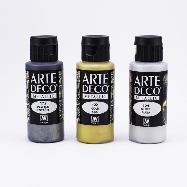 Arte Deco Vallejo metalizados 60ml