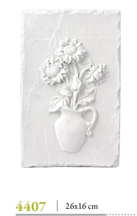 Relieve flores 26 x 16 cm  escayola