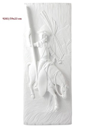 Relieve Don Quijote y los molinos de escayola 59x23