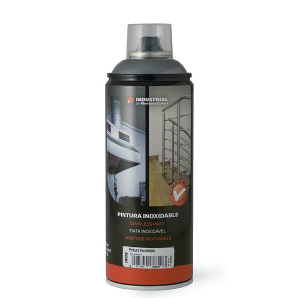 Spray pintura inoxidable efecto acero 400ml - Pintura color acero inoxidable ...